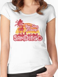 You Stay Classy! San Diego (Worn look) Women's Fitted Scoop T-Shirt