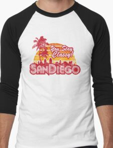 You Stay Classy! San Diego (Worn look) Men's Baseball ¾ T-Shirt