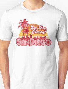 You Stay Classy! San Diego (Worn look) T-Shirt