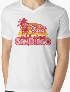 You Stay Classy! San Diego (Worn look) Mens V-Neck T-Shirt