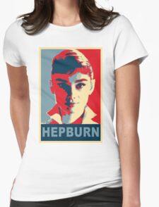 Audrey Hepburn Classic White Shirt Portrait Campaign  Womens Fitted T-Shirt