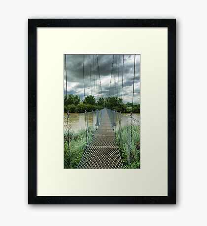 Suspension Bridge  Framed Print