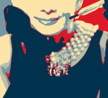 Audrey Hepburn Breakfast at Tiffany's Campaign Design  Sticker