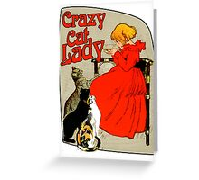 Vintage Crazy Cat Lady Greeting Card