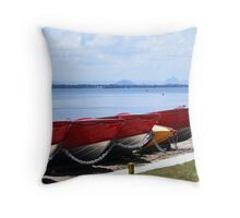 Bribie Island Passage Mountain view Throw Pillow