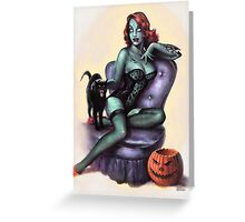 Zombie Girl Pin Up Greeting Card