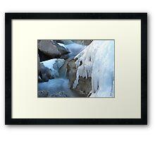 Castlewood Canyon Cascades Framed Print