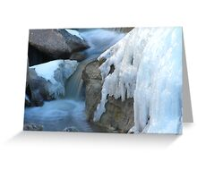 Castlewood Canyon Cascades Greeting Card