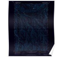 USGS Topo Map Oregon Gleason Butte 280031 1968 24000 Inverted Poster