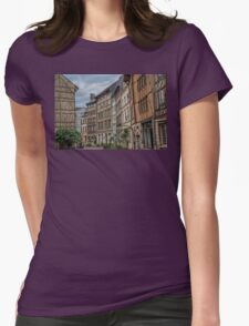 France. Normandy. Rouen. Half Timbered houses. Womens Fitted T-Shirt