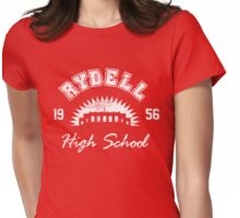 Rydell High School. (worn look) Womens Fitted T-Shirt