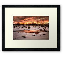 Puddle Fire Framed Print