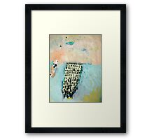 the mountain and her shadow Framed Print