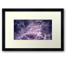 Brewing Storm Framed Print