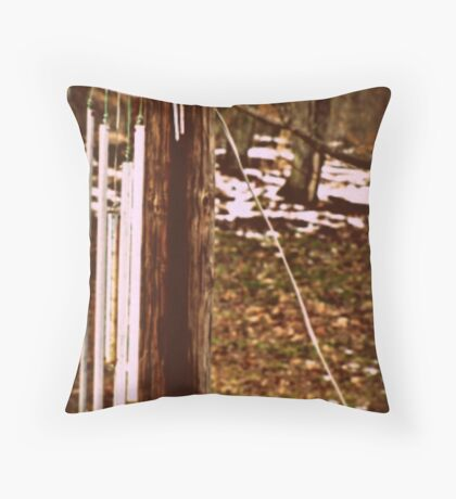 Welded Wind Chime Whisper Throw Pillow