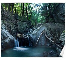 Honey Hollow Falls 1, Jonesville, VT Poster
