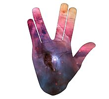 Vulcan Salute Beyond the Stars Photographic Print
