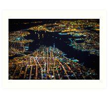 New York City At Night Pt 11 Art Print