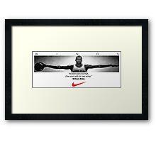Michael Jordan Wings Framed Print