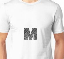 Sketchy Letter Series - Letter M Unisex T-Shirt