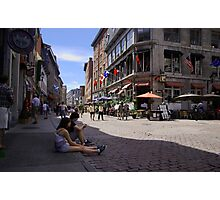 The Streets of Old Montreal Photographic Print