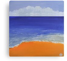 Beach Painting Canvas Print