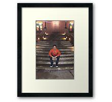 Jimmy Fallon Orange Sweatshirt Framed Print