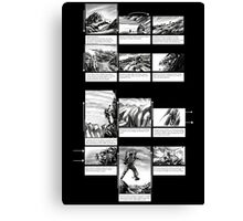 Mountain Odyssey (storyboard) Canvas Print
