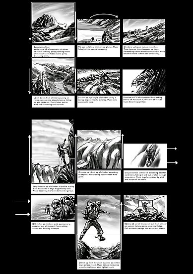 Mountain Odyssey (storyboard) by Evan Lole
