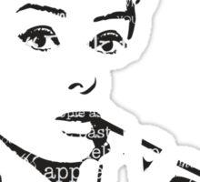 Hepburn - I am Elegance Sticker