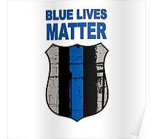 Blue Lives Matter Badge Poster