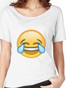 Crying with laughter emoji Women's Relaxed Fit T-Shirt
