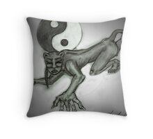 jag woman Throw Pillow
