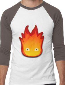 Calcifer! Howls moving castle. Men's Baseball ¾ T-Shirt