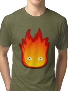 Calcifer! Howls moving castle. Tri-blend T-Shirt