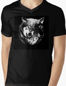 Two Headed Wolf Mens V-Neck T-Shirt