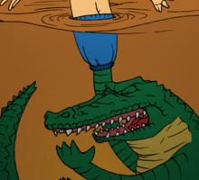Croc Puppeteer / Human Fishing Lure - Light Sticker