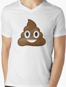 Poop Emoji Mens V-Neck T-Shirt