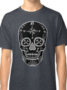Logistic Specialist - Day of the Dead Skull Black and White Negative Classic T-Shirt