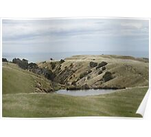 Cape Kidnappers Bay, New Zealand Poster