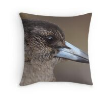 Immature Pied Butcherbird Throw Pillow
