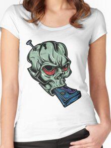 Skull & Cassette Women's Fitted Scoop T-Shirt