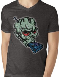 Skull & Cassette Mens V-Neck T-Shirt