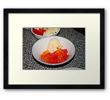 Jello and Ice-Cream Framed Print