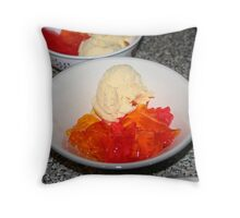Jello and Ice-Cream Throw Pillow