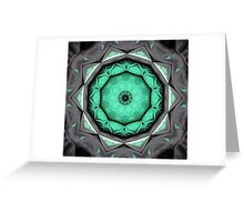 Green and black abstract Greeting Card