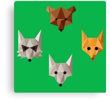 Geometric animals Canvas Print