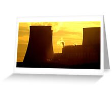Powerstation and sunset, Beauty and the beast. Greeting Card