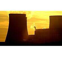 Powerstation and sunset, Beauty and the beast. Photographic Print