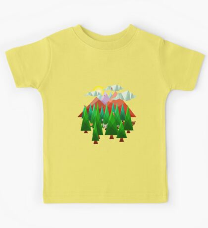 Abstract Landscape Kids Tee